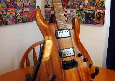 Warmoth Koa and Roasted Flame Maple and PRS Electronics